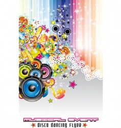 disco dance backgound vector image vector image