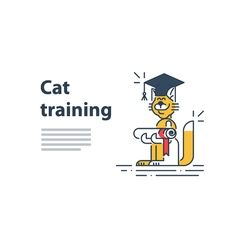 Education concept happy learning graduation hat vector