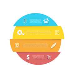element for round infographic vector image vector image
