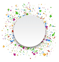 Festive Celebration Bright Confetti with Circle vector image