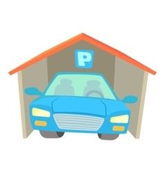 Garage icon cartoon style vector
