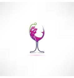 grape wine icon vector image