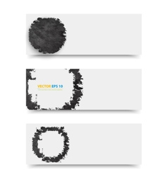 Grunge template header design vector image