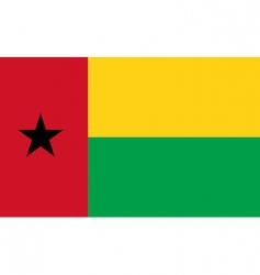 Guinea-Bissau flag vector image