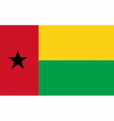 Guinea-Bissau flag vector image vector image