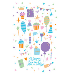 Happy birthday card of vector