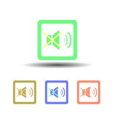 icon four buttons no sound on a white background vector image vector image