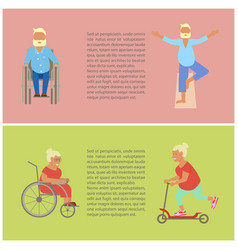 Retired elderly seniors vector