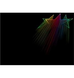 rising stars vector image vector image