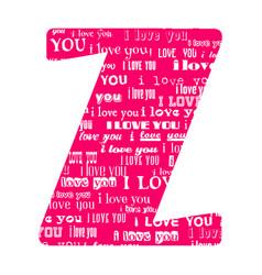 Romantic decorative font vector