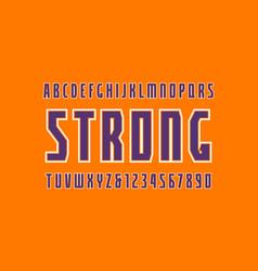 Sans serif font with contour vector