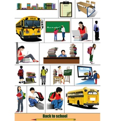 school elements vector image vector image