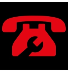 Service phone icon vector