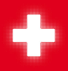 sign white cross on a red background vector image