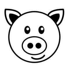 simple cartoon of a cute pig vector image vector image
