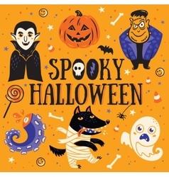 Spooky halloween card vector