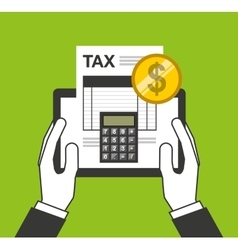 tax payment online icon vector image