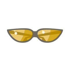 the sunglasses with yellow lens vector image vector image