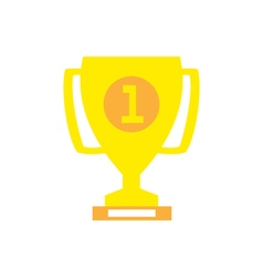 Trophy Cup Flat Icon vector image vector image