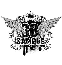 vintage emblem t-shirt design vector image