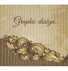 Vintage scroll pattern at grunge background vector image vector image