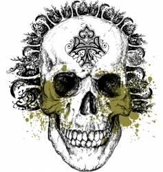 wicked skull illustration vector image