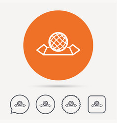 world map icon globe sign vector image