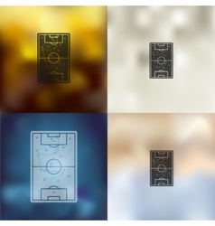 Playing field icon on blurred background vector