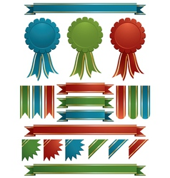 Glossy ribbons vector