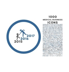 Years guys help rounded icon with 1000 bonus icons vector