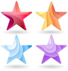 Set of colorful stars stripped color vector