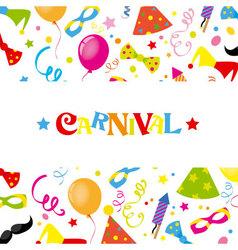Happy carnival card vector image