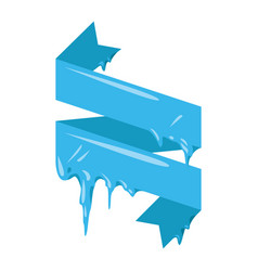 Collection of frozen icicle snow winter vector