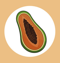 Papaya healthy fresh image vector
