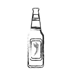 Blurred silhouette image bottle glass of refresh vector