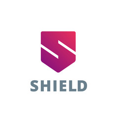 letter s shield logo icon design template elements vector image