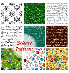Seamless pattern of science and knowledge vector