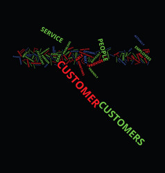 Excellent customer service text background word vector