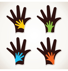 hand with child hand stock vector image