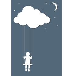 Dreaming vector image
