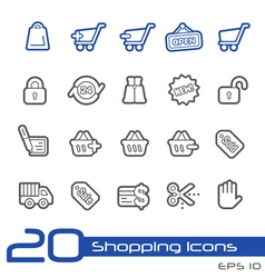 Shopping Outline Series vector image