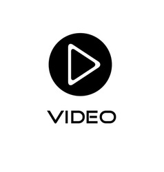Play video button design template vector