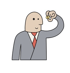 Businessman with coin vector