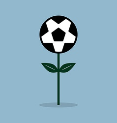 Soccer ball flower plant vector