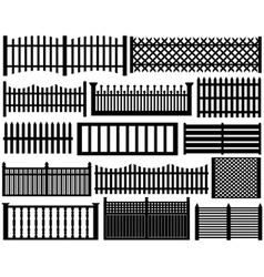 fence set isolated vector image