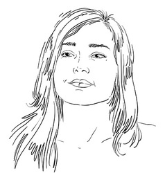 Graphic hand-drawn of white skin attractive vector
