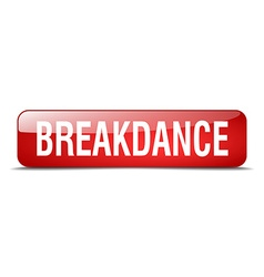Breakdance red square 3d realistic isolated web vector