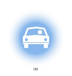 Sign of car with driver The car in front vector image
