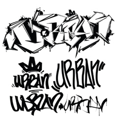 Graffiti tags - writing vector