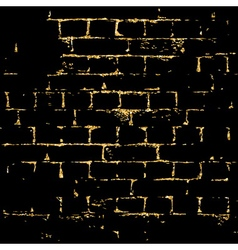 Brick wall gold texture pattern black vector